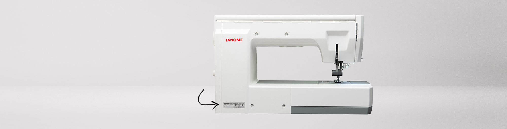 janome sewing machine serial number
